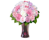 24 Pastel Long Stem Roses in Pleasanton TX, Pleasanton Floral
