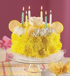 Lemon Flower Cake in Burlington NJ, Stein Your Florist