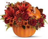 Teleflora's Prize Pumpkin Bouquet - Deluxe in Bedford IN, Bailey's Flowers & Gifts