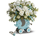 MiGi's Baby Elephant Bouquet Deluxe - Blue in San Clemente CA, Beach City Florist