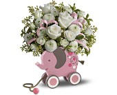 MiGi's Baby Elephant Bouquet by Teleflora - Pink in Orlando FL, Elite Floral & Gift Shoppe