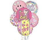 It's a Girl Balloon Bunch in Laurel MD, Rainbow Florist & Delectables, Inc.