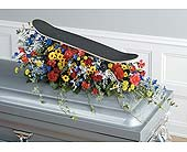 Skateboarding Themed Casket Spray in West Bloomfield MI, Happiness is...Flowers & Gifts