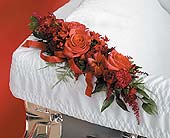 Red Corsage Lid Decoration in West Bloomfield MI, Happiness is...Flowers & Gifts
