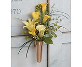 Yellow Memorial Urn in West Bloomfield MI, Happiness is...Flowers & Gifts