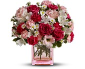 Teleflora's Pink Dawn Bouquet - Deluxe in Edmonton AB, Petals For Less Ltd.
