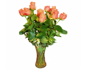 One Dozen Imported Cherry Brandy Roses in Seattle WA, Topper's European Floral Design
