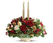 Lenox Holly-Day Bouquet by Teleflora - Deluxe in Union City CA, ABC Flowers & Gifts