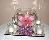 Lily and Candle Centerpiece in Salisbury MD, Kitty's Flowers