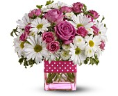 Teleflora's Polka Dots and Posies - Deluxe in Essex ON, Essex Flower Basket