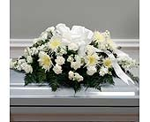 White Traditional Casket Spray (Metro-Detroit Only in Southfield MI, Thrifty Florist