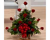 Petite Red Rose Arrangement in Southfield MI, Thrifty Florist