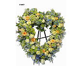 Sympathy standing heart in Norwalk CT, Bruce's Flowers & Greenhouses