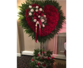 All Rose Heart with Break in Staten Island, New York, Kitty's and Family Florist Inc.