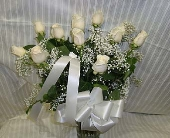 White roses in Bellmore NY, Petite Florist