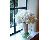 All White Tulip Bouquet in Sarasota, Florida, Flowers By Fudgie On Siesta Key