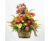 Scarecrow Basket in Big Rapids MI, Patterson's Flowers, Inc.