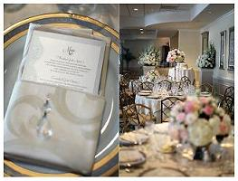 Bejeweled centerpieces in Cerritos CA, The White Lotus Florist