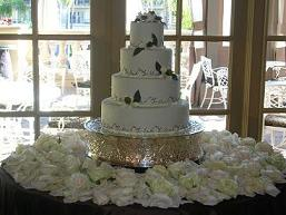 Cake Table in Cerritos CA, The White Lotus Florist