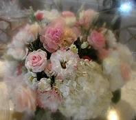 Pink and White Rose Centerpiece in Cerritos CA, The White Lotus Florist