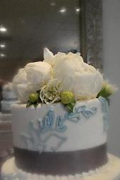 White Peony Cake Topper in Cerritos CA, The White Lotus Florist