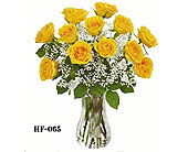 A Dozen Yellow Roses Vased in Fairfield CT, Glen Terrace Flowers and Gifts