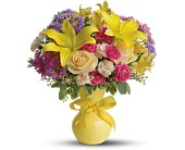 Teleflora's Color It Happy - Deluxe in Moundsville WV, Peggy's Flower Shop