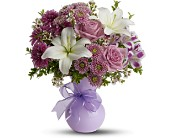 Teleflora's Precious in Purple in New Britain CT, Weber's Nursery & Florist, Inc.