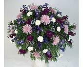 Shades of Purple Casket Spray in Indianapolis IN, Gillespie Florists