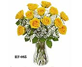A Dozen Yellow Roses Vased in Fairfield CT, Town and Country Florist