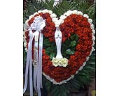 Open Heart With Statue in Staten Island NY, Eltingville Florist Inc.