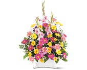 Spring Remembrance Basket in Fairfield CT, Town and Country Florist