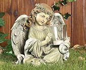 Angel with Votive in Greenfield IN, Penny's Florist Shop, Inc.