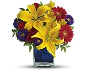 Teleflora's Blue Caribbean in Reno, Nevada, Bumblebee Blooms Flower Boutique