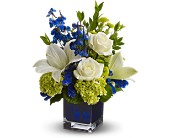Teleflora's Serenade in Blue in Christiansburg VA, Gates Flowers & Gifts