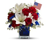America the Beautiful by Teleflora in Auburn WA, Buds & Blooms