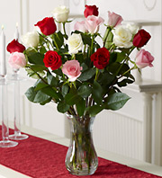 PINK, WHITE AND RED ROSES in Homer NY, Arnold's Florist & Greenhouses & Gifts