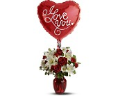 Be My Love with Balloon in Burlingame, California, Burlingame LaGuna Florist