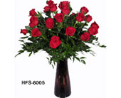 18 Red Roses in Norwalk CT, Bruce's Flowers & Greenhouses