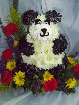 Large Panda in Garden in Crown Point IN, Debbie's Designs