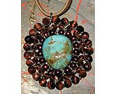 Turquoise Red Tigers Eye Pendant in Staten Island NY, Grapevine Garden and Florist