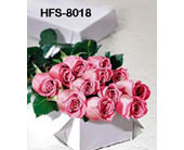 1 Dozen Long-Stemmed Roses - Pink - Boxed in Fairfield CT, Glen Terrace Flowers and Gifts