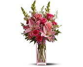 Teleflora's Pink Wink in Olympia, Washington, Artistry In Flowers