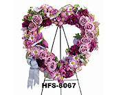 Hansen's Lavender Heart in Fairfield CT, Town and Country Florist