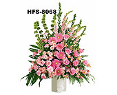 Hansen's Pink Basket in Fairfield CT, Town and Country Florist