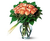 Perfectly Peachy Roses in Bowmanville ON, Bev's Flowers
