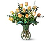 A Dozen Pale Peach Roses in Orlando FL, University Floral & Gift Shoppe