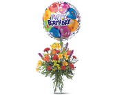 Birthday Balloon Bouquet in Scobey MT, The Flower Bin