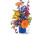 Cheerful Flowers in a Mug in Buffalo WY, Posy Patch