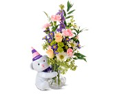 Teleflora's Party Bear in San Jose CA, Rosies & Posies Downtown